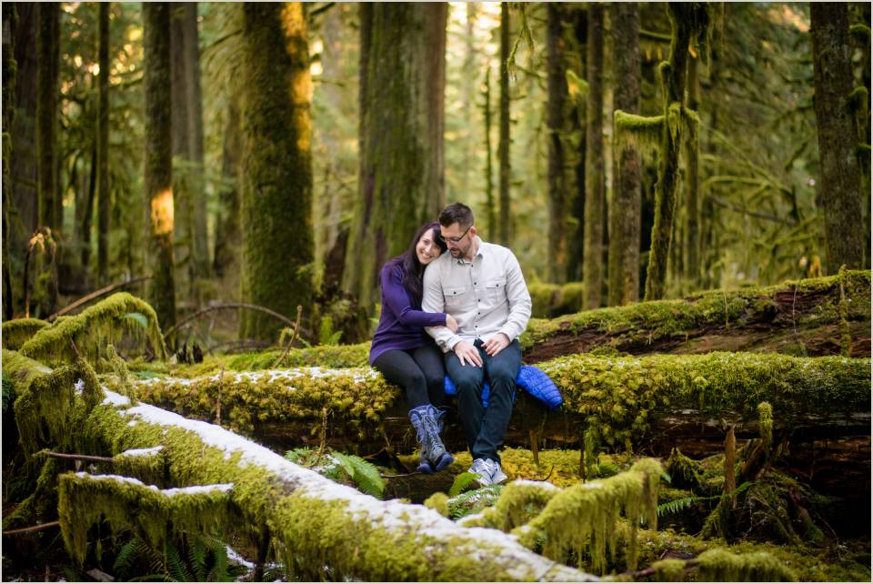 mossy forest engagement photos