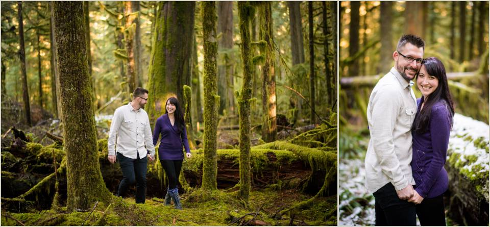 mount rainier national park engagement session