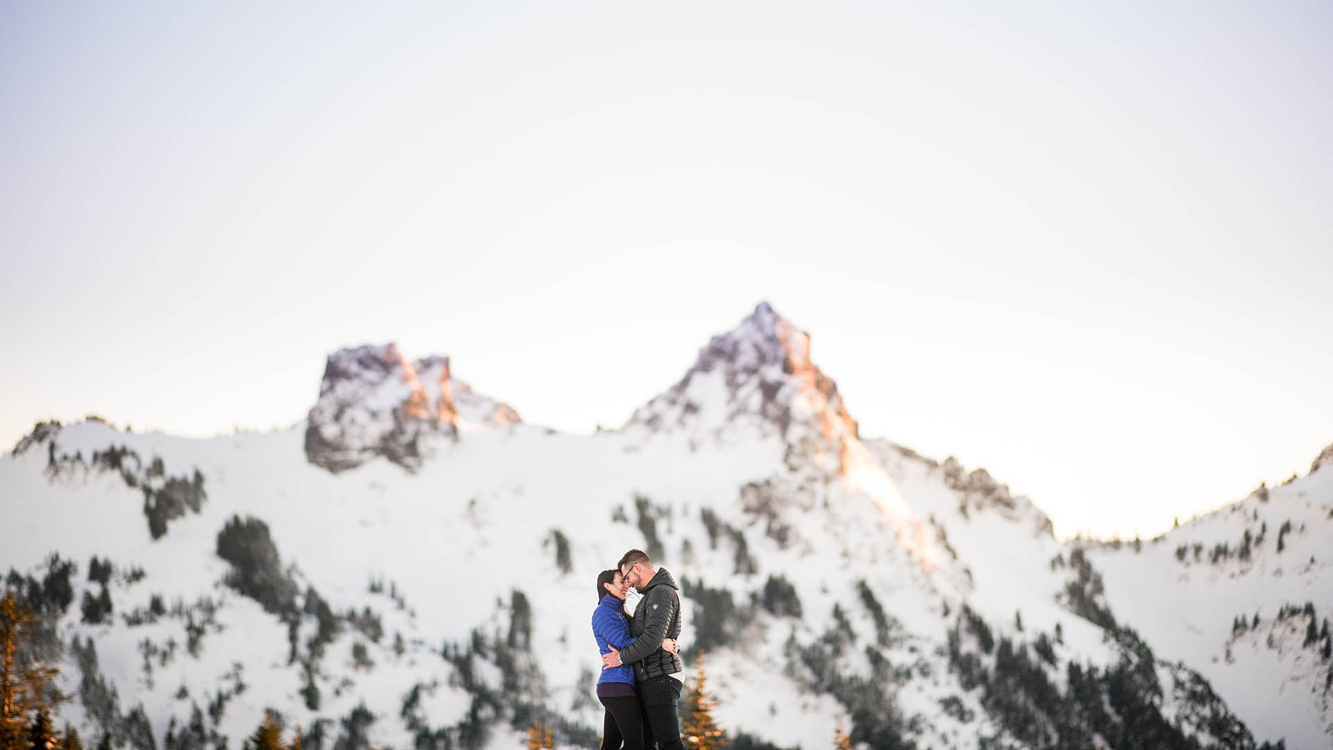 mount rainier winter engagement photos featured