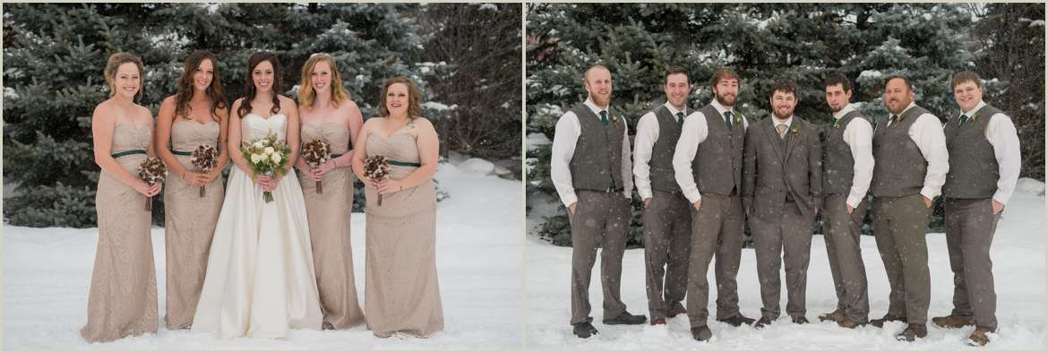 neutral winter wedding party colors