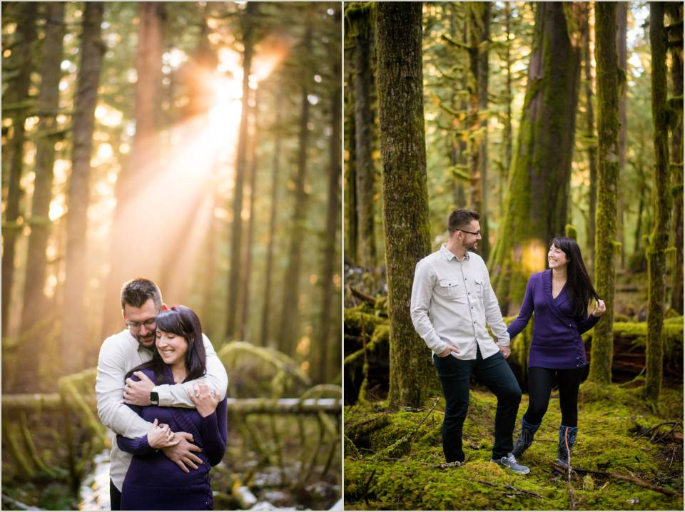 pnw forest engagement photos