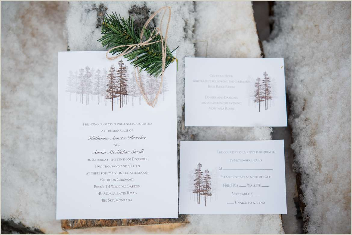 rustic woodsy wedding invitations