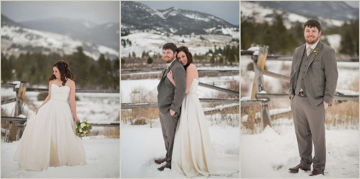 snowy bridal portraits in the mountains