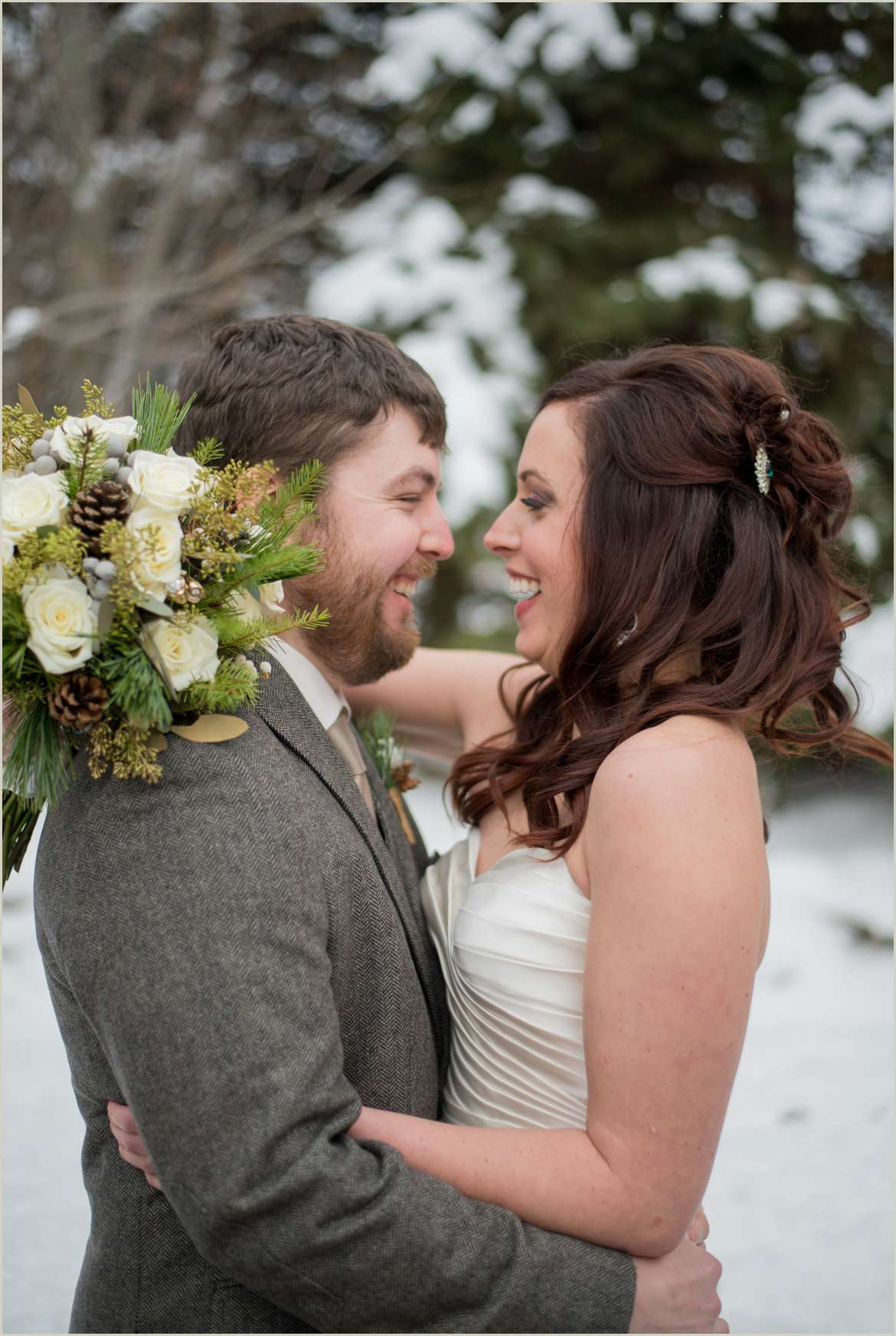 snowy winter wedding at montana ranch