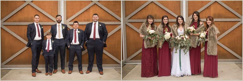 winter barn wedding photos
