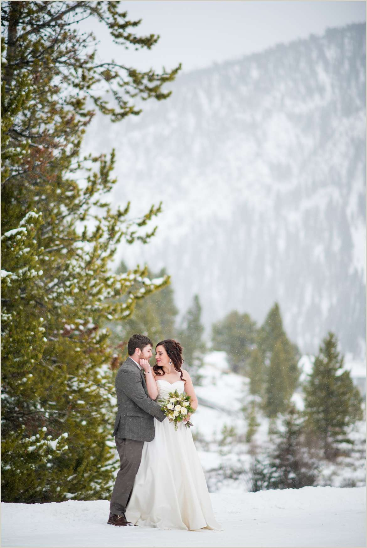 winter big sky montana wedding