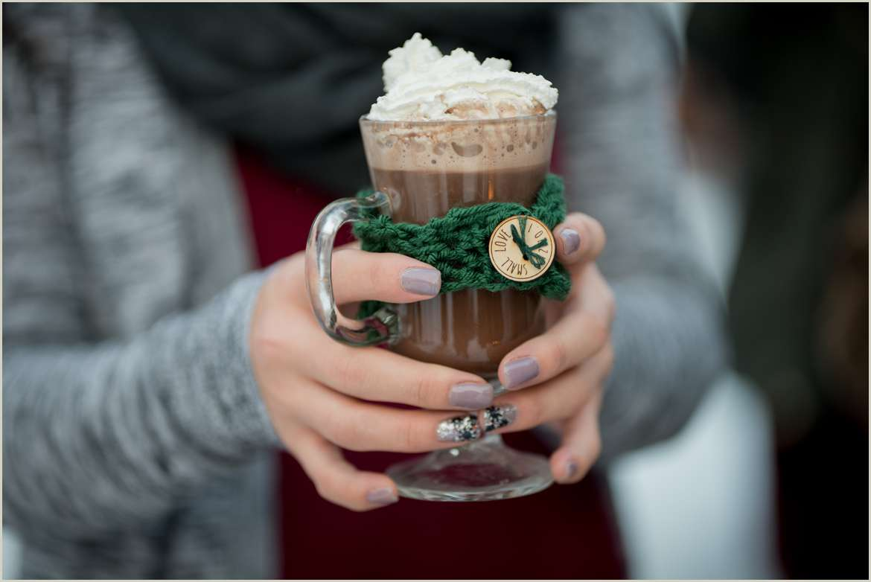winter hot chocolate bar for wedding