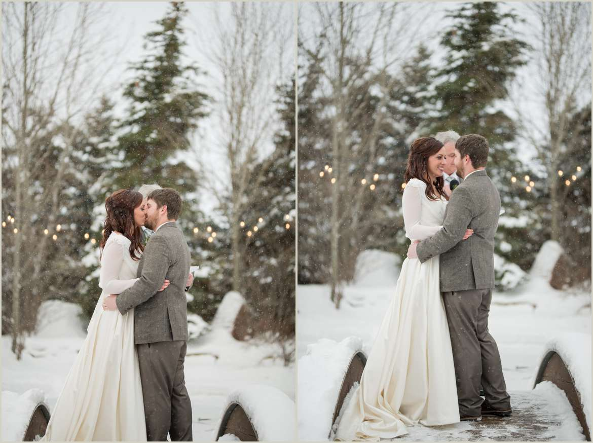 winter outdoor wedding ceremony
