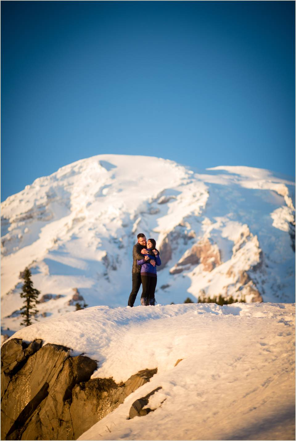 winter paradise engagement photos