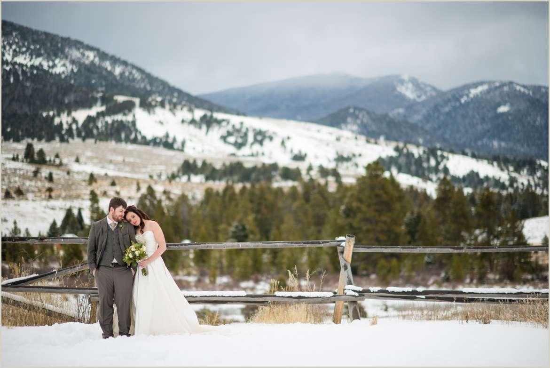 winter wedding in big sky montana