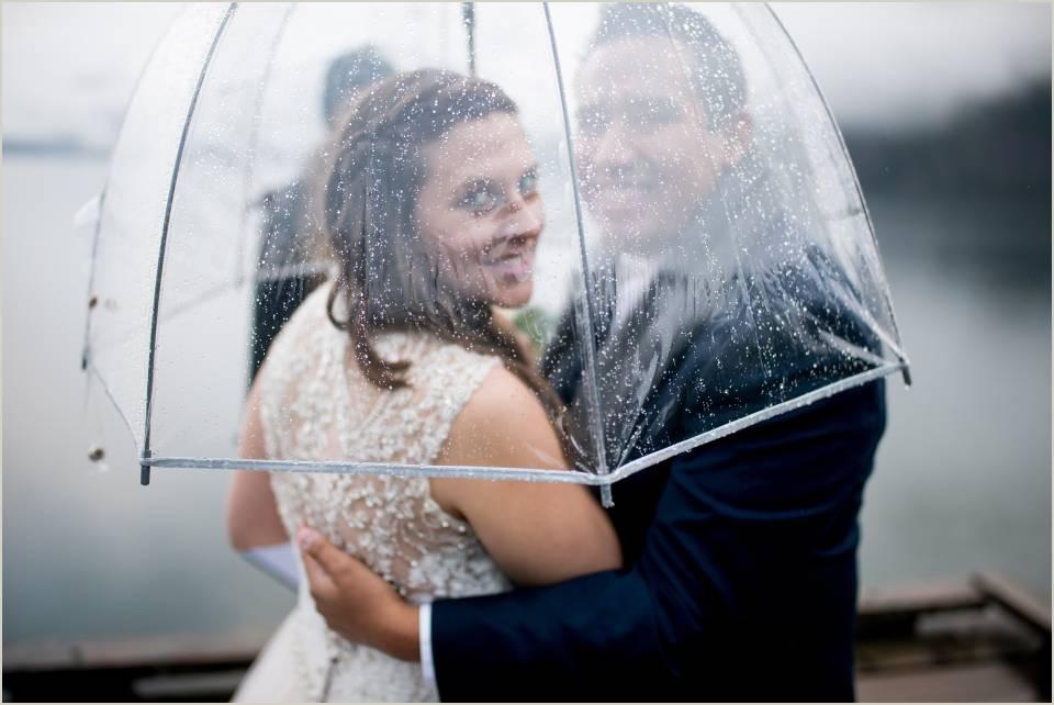 adventurous couple eloping in the rain 1