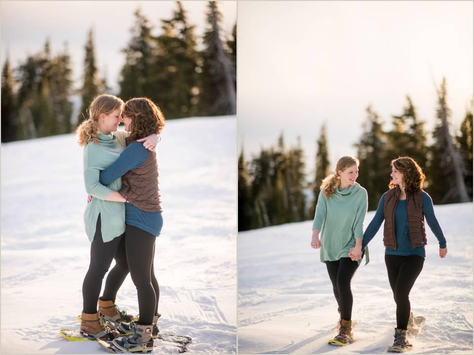 adventurous lesbian engagement session