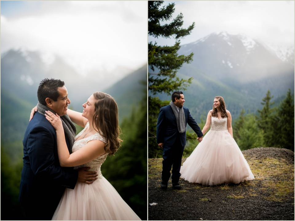 adventurous mountain olympic national park elopement 1