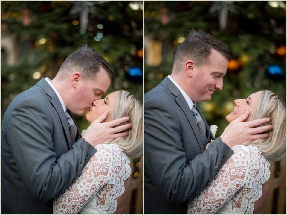 authentic loving winter wedding photos