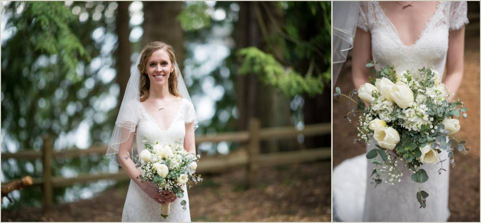beautiful simple bride outdoor wedding