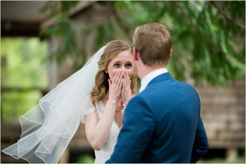 bride reaction first look