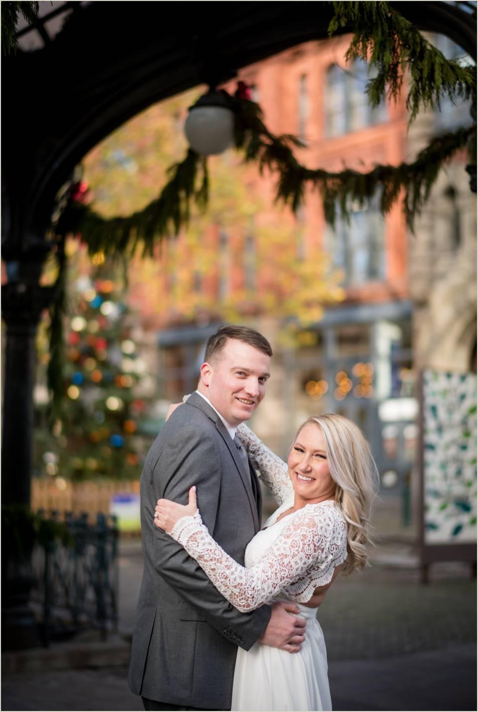 christmas seattle wedding photos