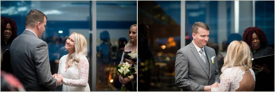 emotive bride and groom ceremony