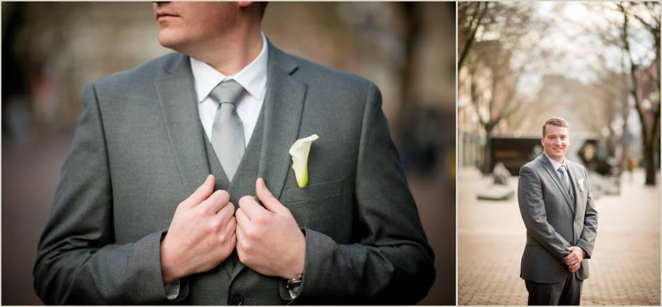 groom grey suit pioneer square