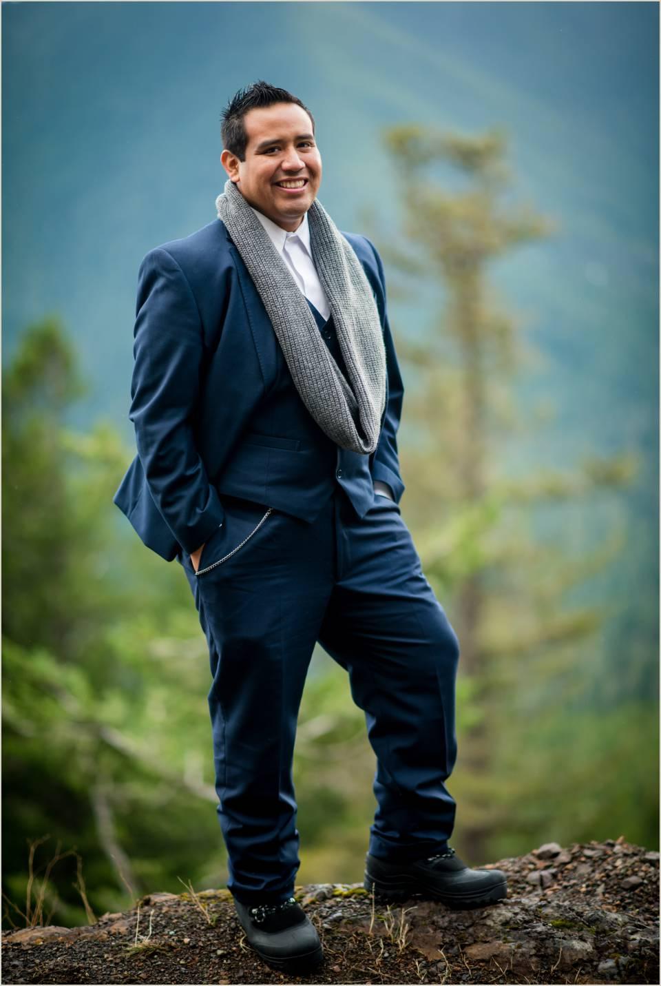 groom photo on mountain 1