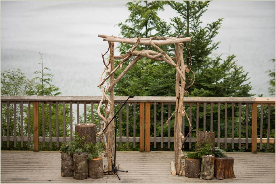 organic arch for washington summer camp wedding