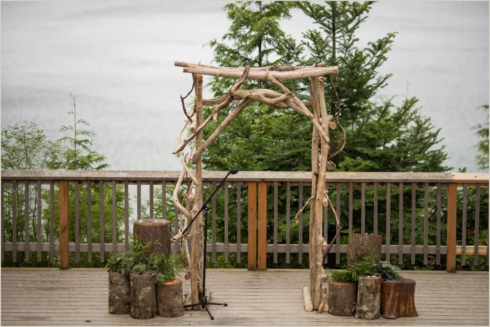 organic arch for washington summer camp wedding