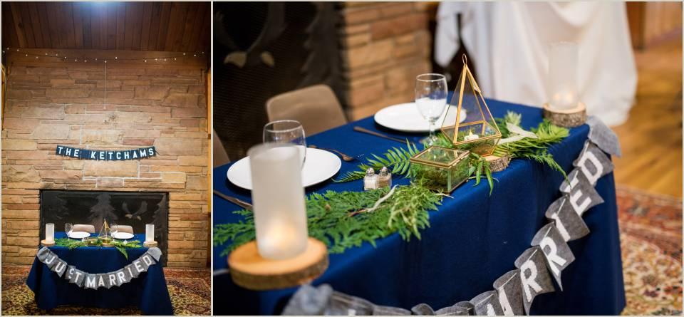 organic summer camp wedding decorations
