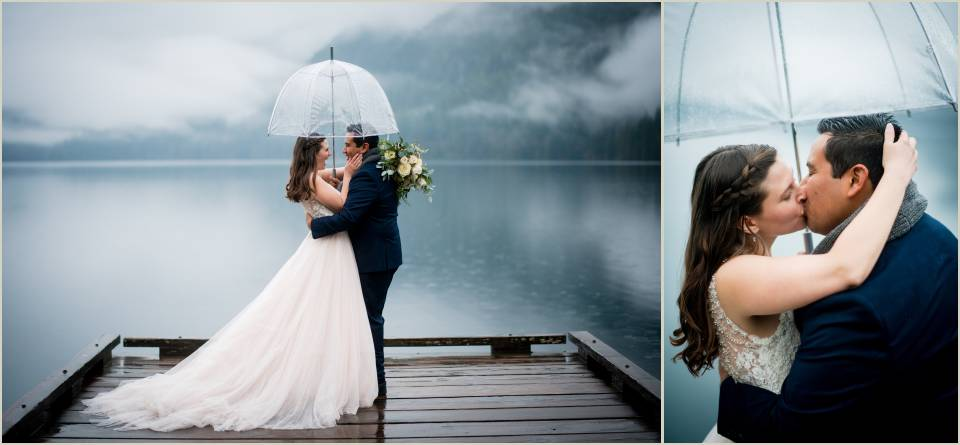 rainy wedding photos in olympic national park 1