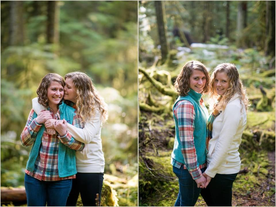 seattle lesbian engagement photographer