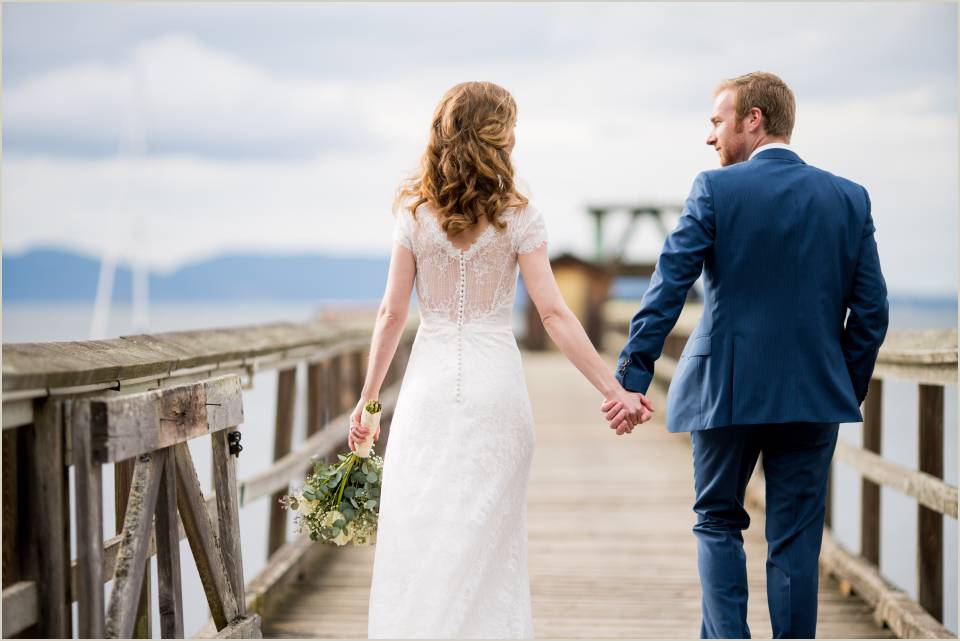 spring wedding in the san juan islands