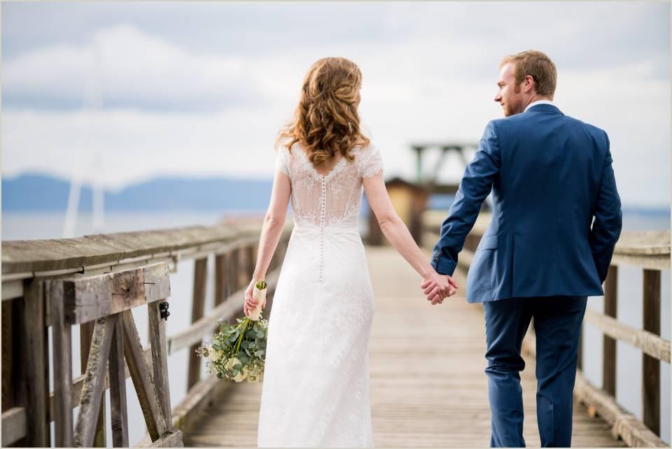 spring wedding in the san juan islands