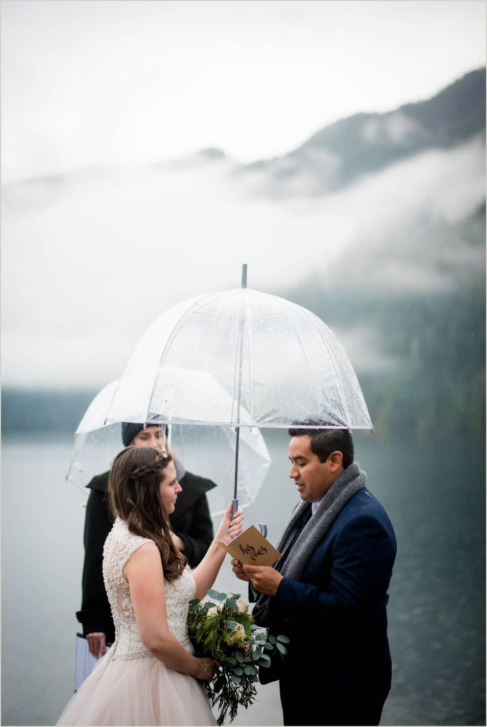 wedding ceremony at lake crescent 1