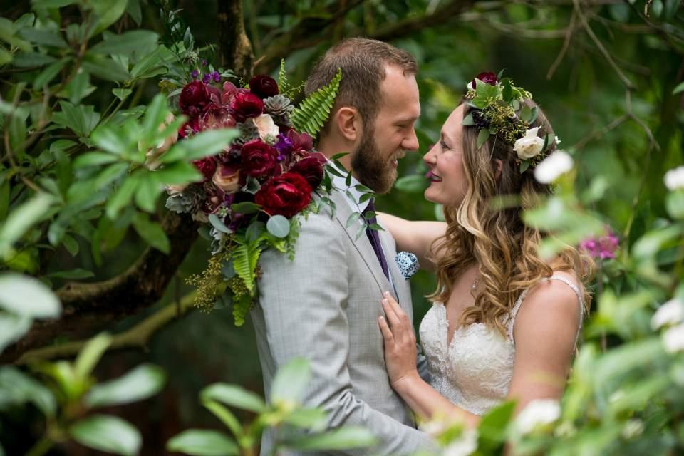 boho chic seattle wedding photos