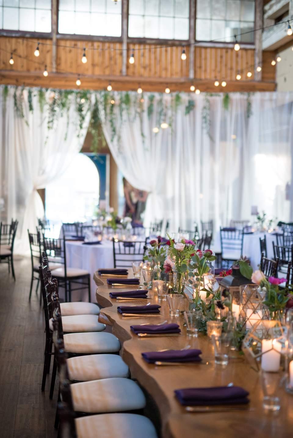 botanical wedding decorations at sodo park
