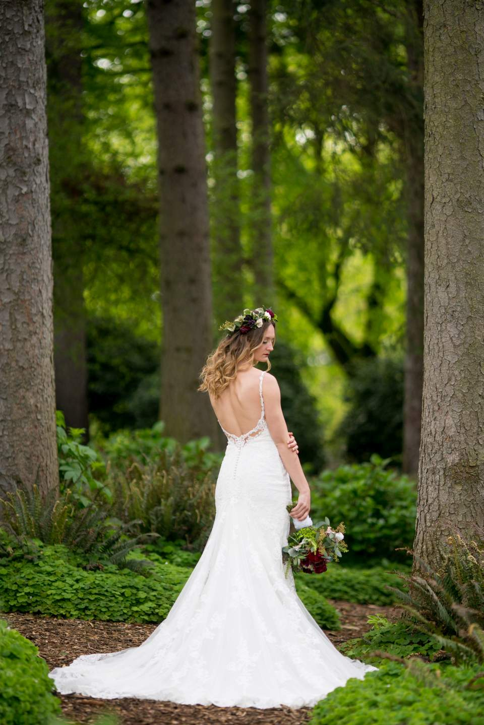 bridal portrait at volunteer park
