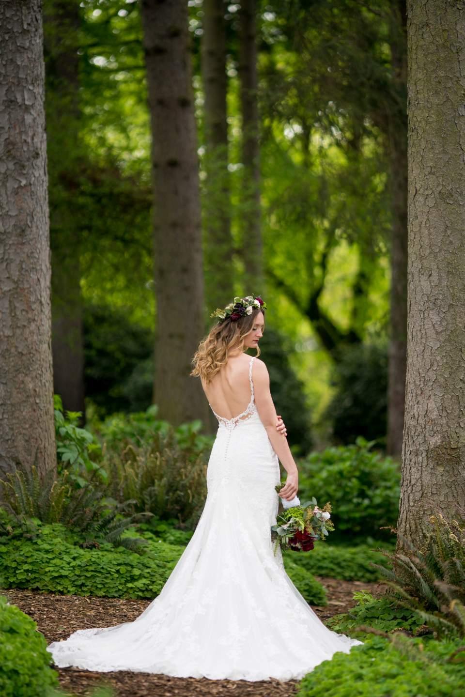 bridal portrait at volunteer park