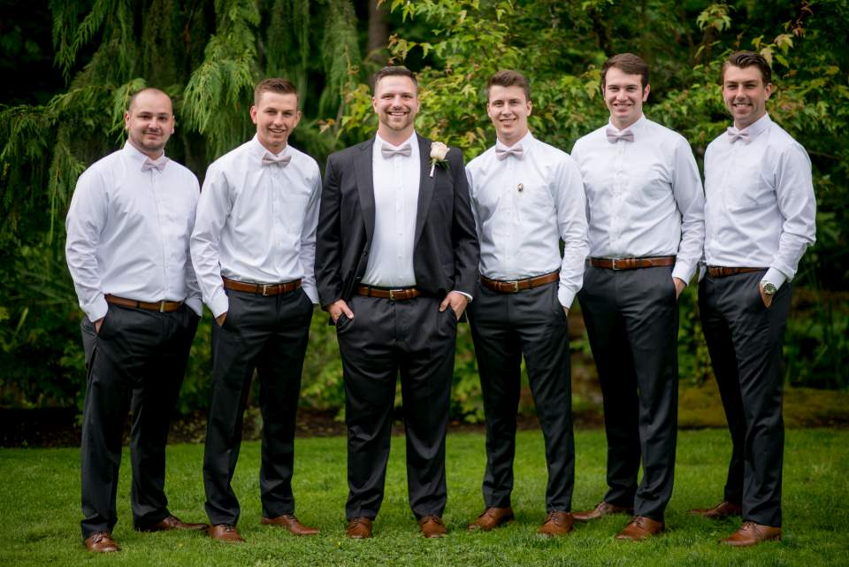 classic casual groomsmen wedding photos