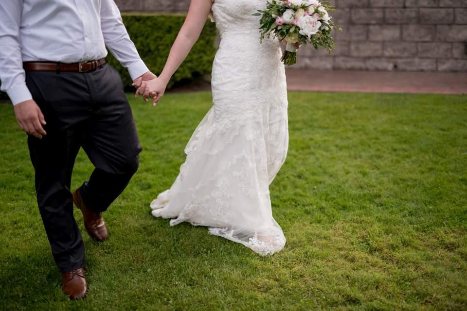 detail photo of couple walking