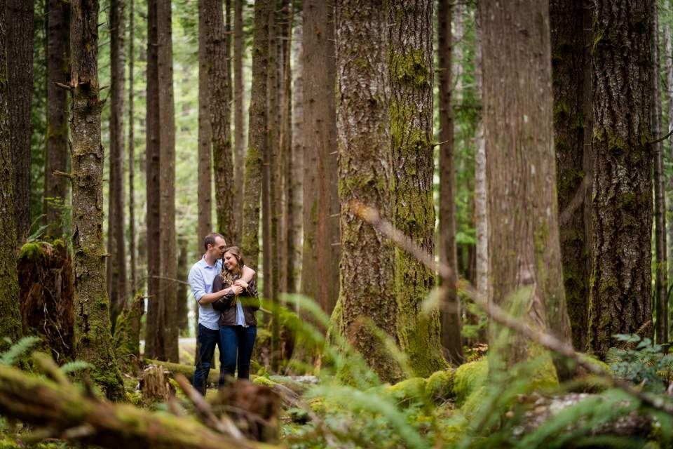 engagement photos in olympic national forest
