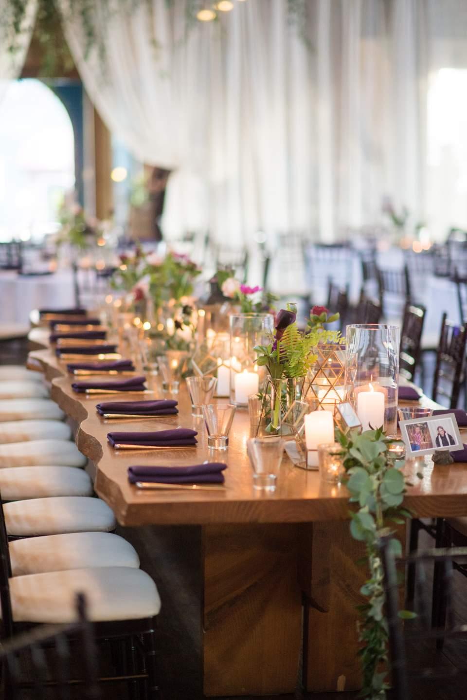 geometric boho chic wedding reception