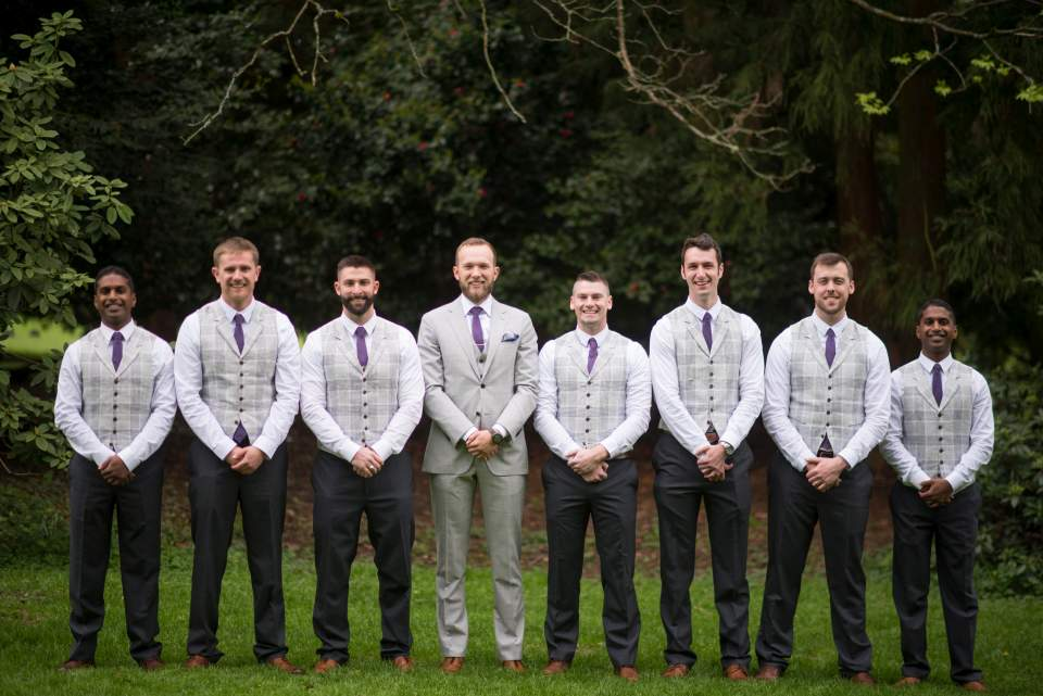 grey and purple groomsmen inspiration
