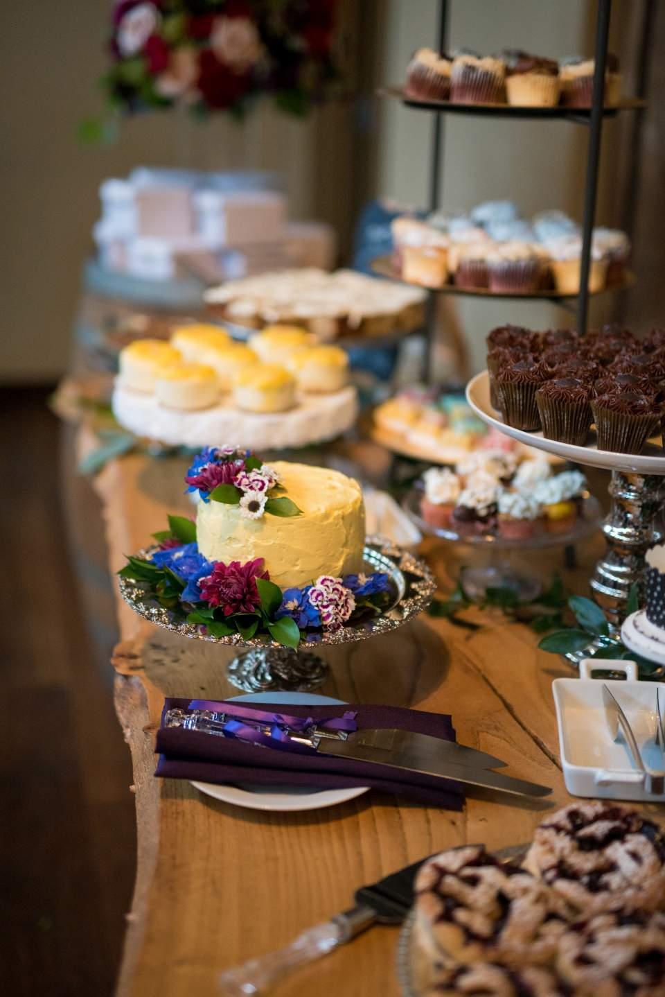guests bring wedding desserts for homemade dessert bar