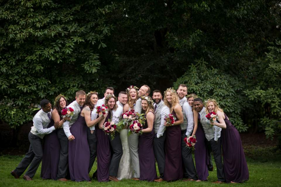 have fun with your wedding party photos
