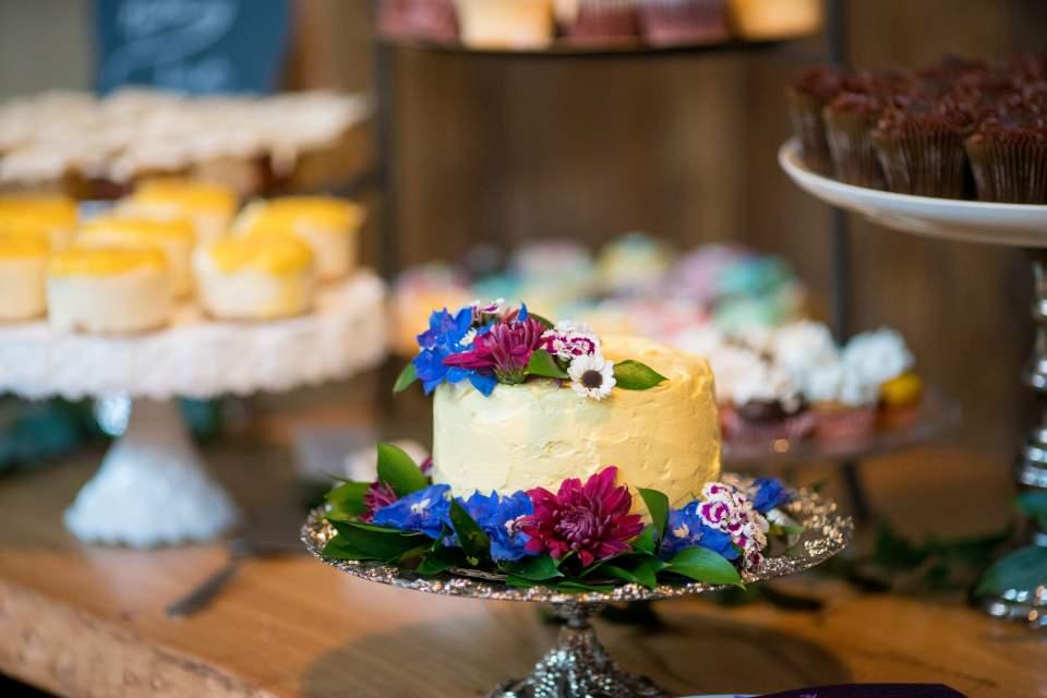 homemade dessert bar at wedding
