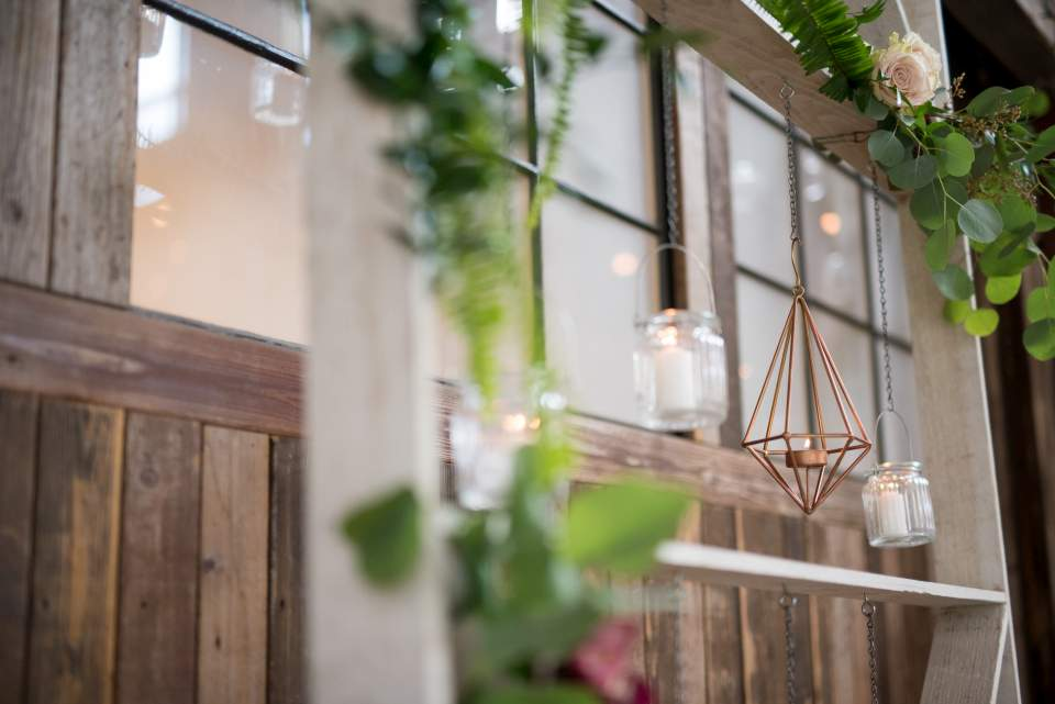 industrial boho chic wedding decorations
