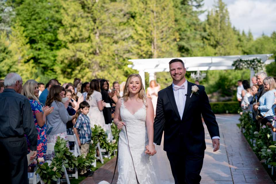 just married couple at rock creek gardens