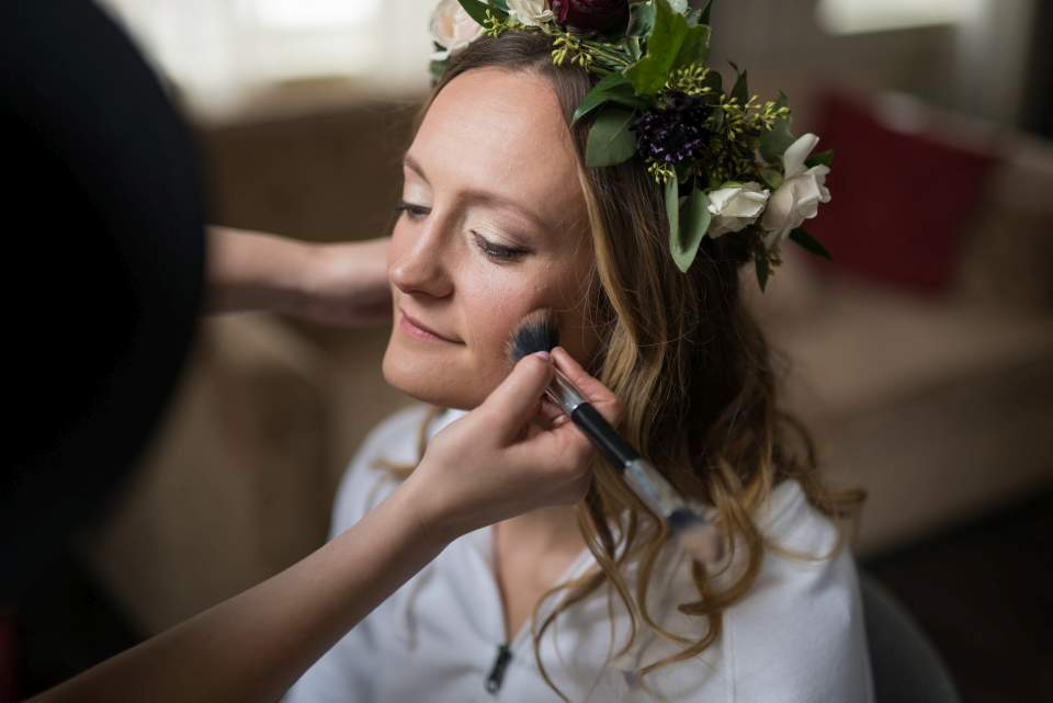 makeup for boho bride