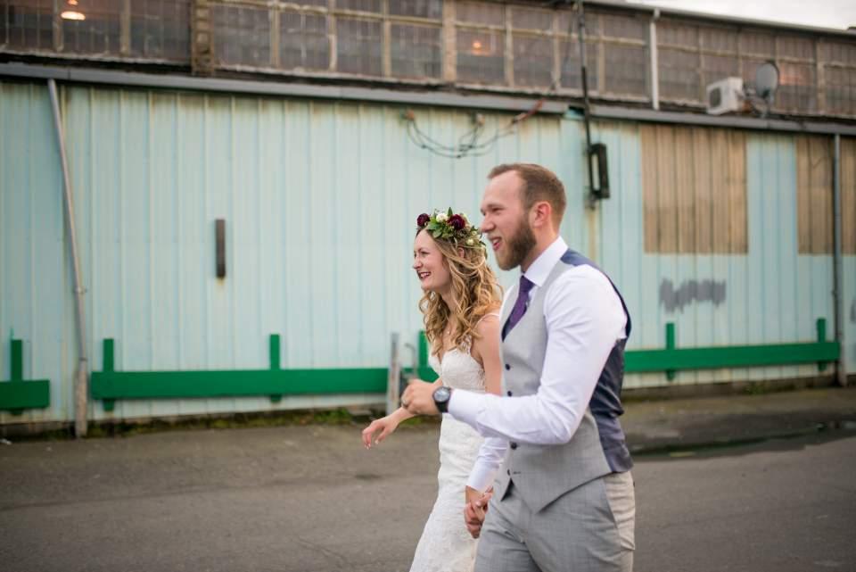 natural bride and groom wedding photos