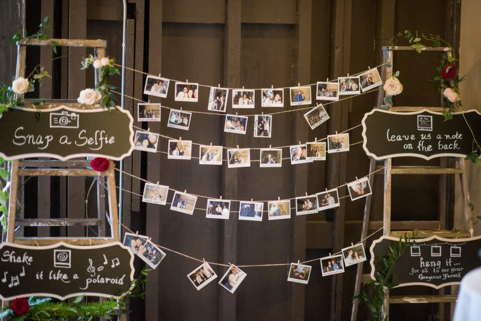 selfie guest book station at wedding