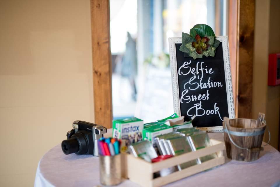 selfie station at sodo park wedding